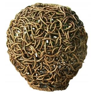 lampara esferica en ratan con un diametro de 35 cm