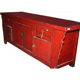 Gabinete antiguo con puertas y cajones
