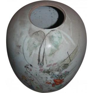 Jarron chino antiguo pintado
