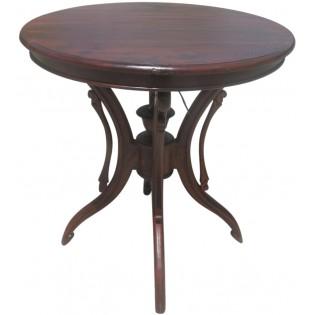 mesa redonda de caoba