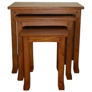 mesa de centro en caoba claro (la mas pequena)