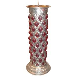 porta velas de plata y cristal