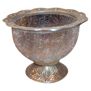tazon de plata y cristal