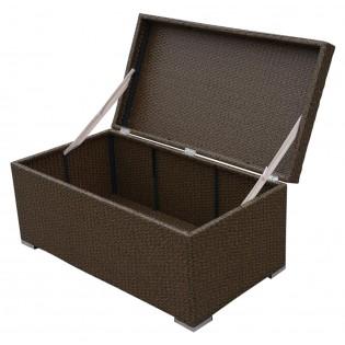 Armario de lino para exteriores de alta calidad con marco de aluminio y cubierto en Polyratan