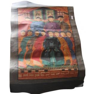 Cuadro chino antiguo en lienzo