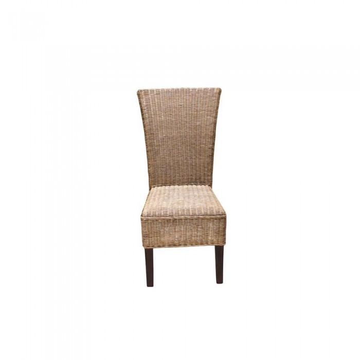 silla de ratan fibra natural 55x106x40 etnicart